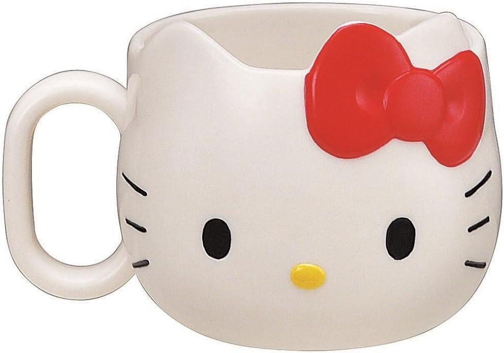 Amazon Com Sanrio Hello Kitty Face Die Cut Mug Coffee Cups Mugs