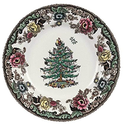 Amazon.com | Spode Christmas Tree Grove 6-Inch Bread and Butter ...