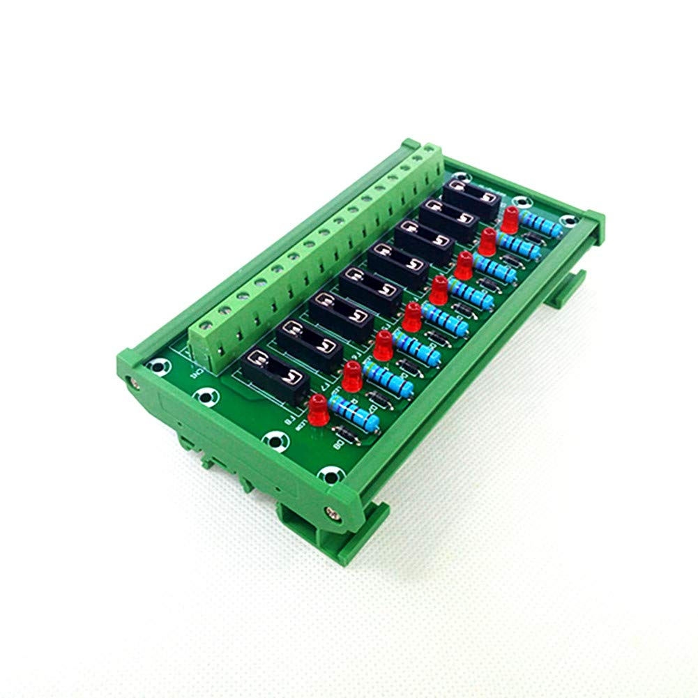 DIN Rail Mount 8 Channel Fuse Module Board.
