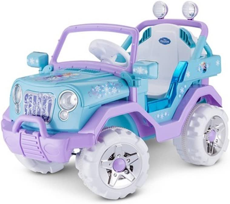 Disney Frozen 4X4 Jeep 6V KT1205 Ride On Blue