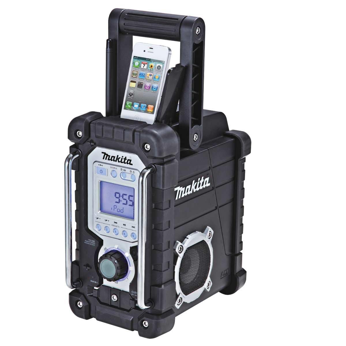 Makita Radio de chantier 7,2 à 18 V Li-Ion, Ni-Mh (Machine seule) - Radios portables (Ni-Mh (Machine seule), Portable, AM,FM, 87,5-108 MHz, 522-1629 kHz, Auto scan, 7 W) 2 à 18 V Li-Ion DMR103B