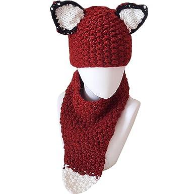 Amazon Kennedy Children Cute Cartoon Knitted Fox Ear Warm Hats