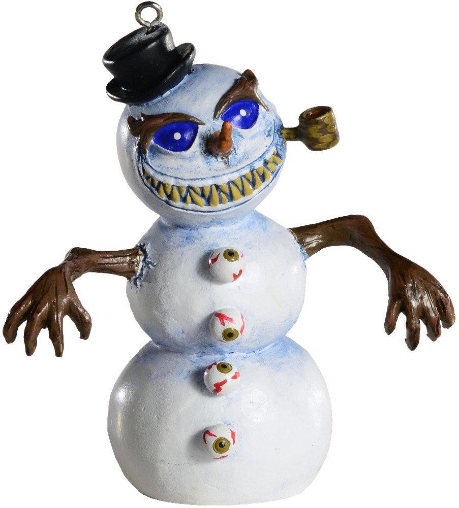 Amazon.com: Killer Snowman Horror Ornament - Scary Prop and ...