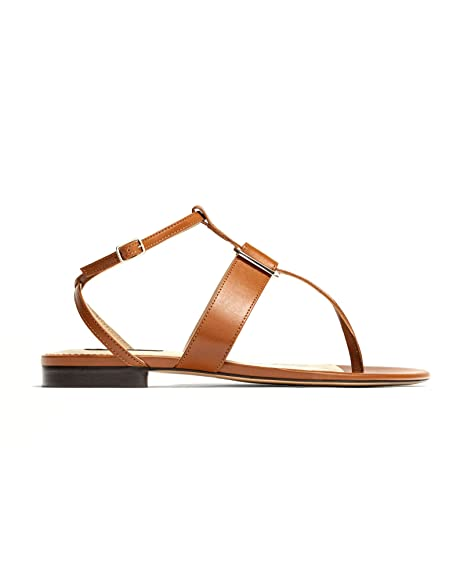 Massimo Dutti - Sandalias de Vestir de Piel para Mujer Marrón marrón, Color Marrón, Talla 42 EU | 11 US | 9 UK: Amazon.es: Zapatos y complementos