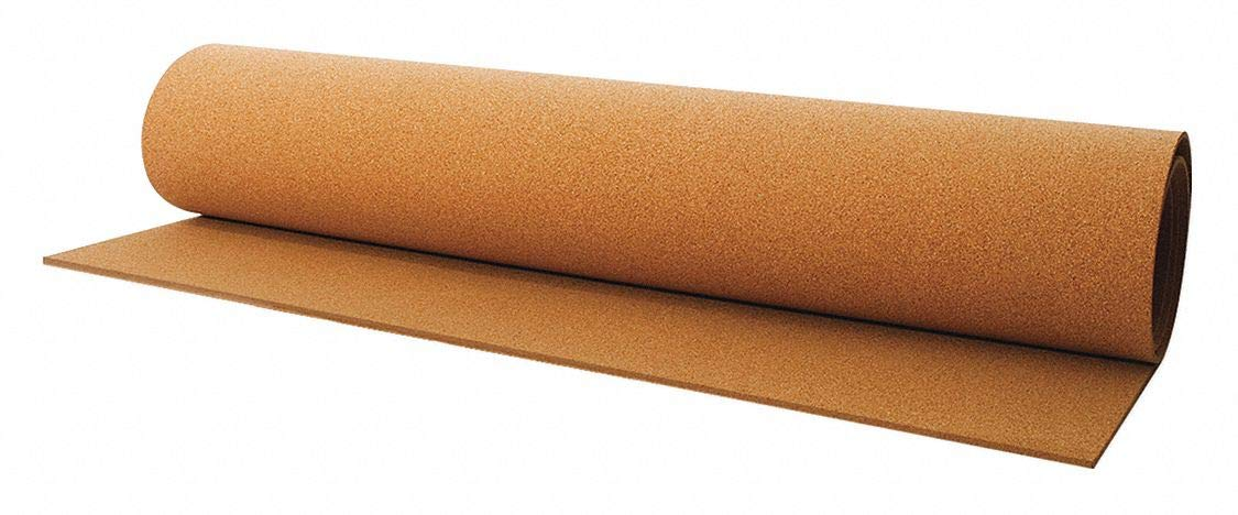 Cork Roll, BB14, 1.5mm Th, 48 in x 25 Ft