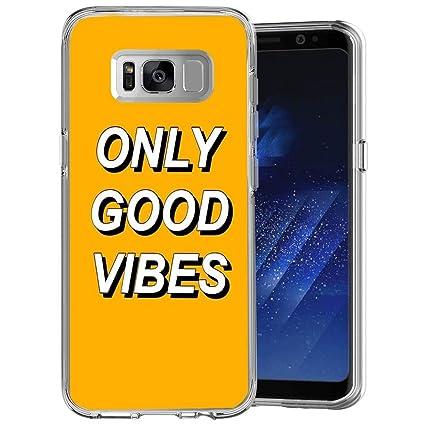 Amazon.com: LingHan Only Good Vibes - Carcasa para Samsung ...