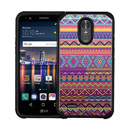 LG Stylo 3 Plus Hybrid Slim Case Aztec Colourful Pattern 2 Piece Case for LG Stylo 3 Plus