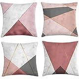 kit 4 capas almofadas textura cobre 40x40