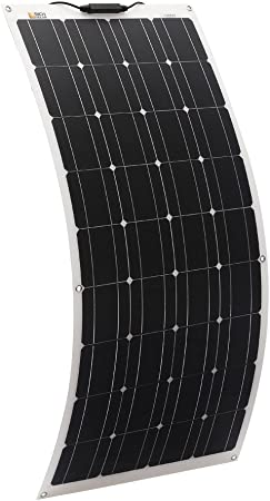 RICH SOLAR 100 Watt 12 Volt Extremely ETFE Flexible Monocrystalline Solar Panel Ultra Lightweight