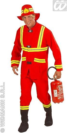 Desconocido Disfraz de Bombero Rojo Adulto: Amazon.es: Juguetes y ...