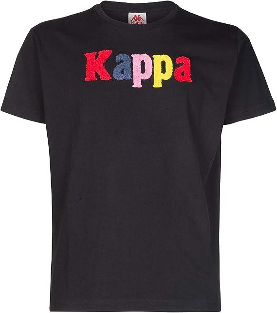 Kappa Authentic Colbos - Camiseta negra de algodón 304S0N0-005: Amazon.es: Ropa y accesorios