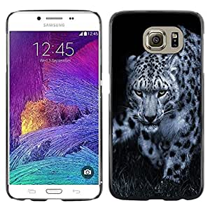 Stuss Case / Funda Carcasa protectora - Leopard Black White Animal Nature Hint - Samsung Galaxy S6 SM-G920