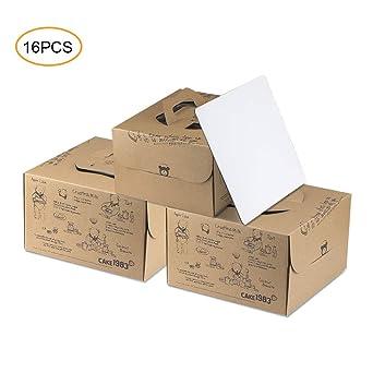 Amazon.com: Cajas para tartas, 10 x 10 x 5, bonitas cajas ...