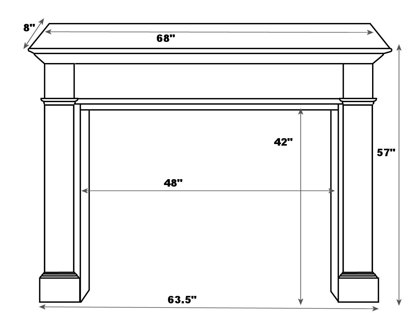 pearl mantels 120 48 windsor fireplace mantel surround 48 inch