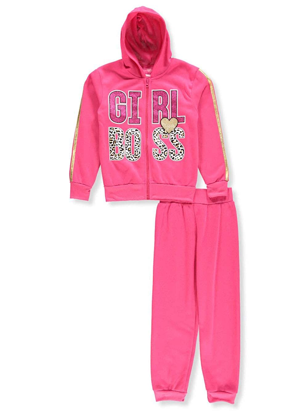 Girls Luv Pink Girls' 2-Piece Sweatsuit Pants Set