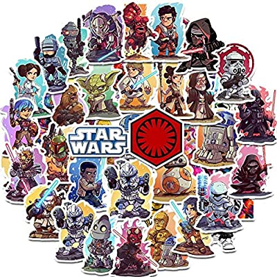 Qweryboo 50 pcs Star Wars Waterproof Stickers, Vinyl Stickers Decal for Skateboard Pad MacBook Laptop Luggage Bike: Kitchen & Dining