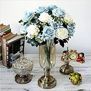 Mandy's Silk Flower Artificial Flower Rolling Rose for Wedding Bouquet Home & Kitchen Decoration 94