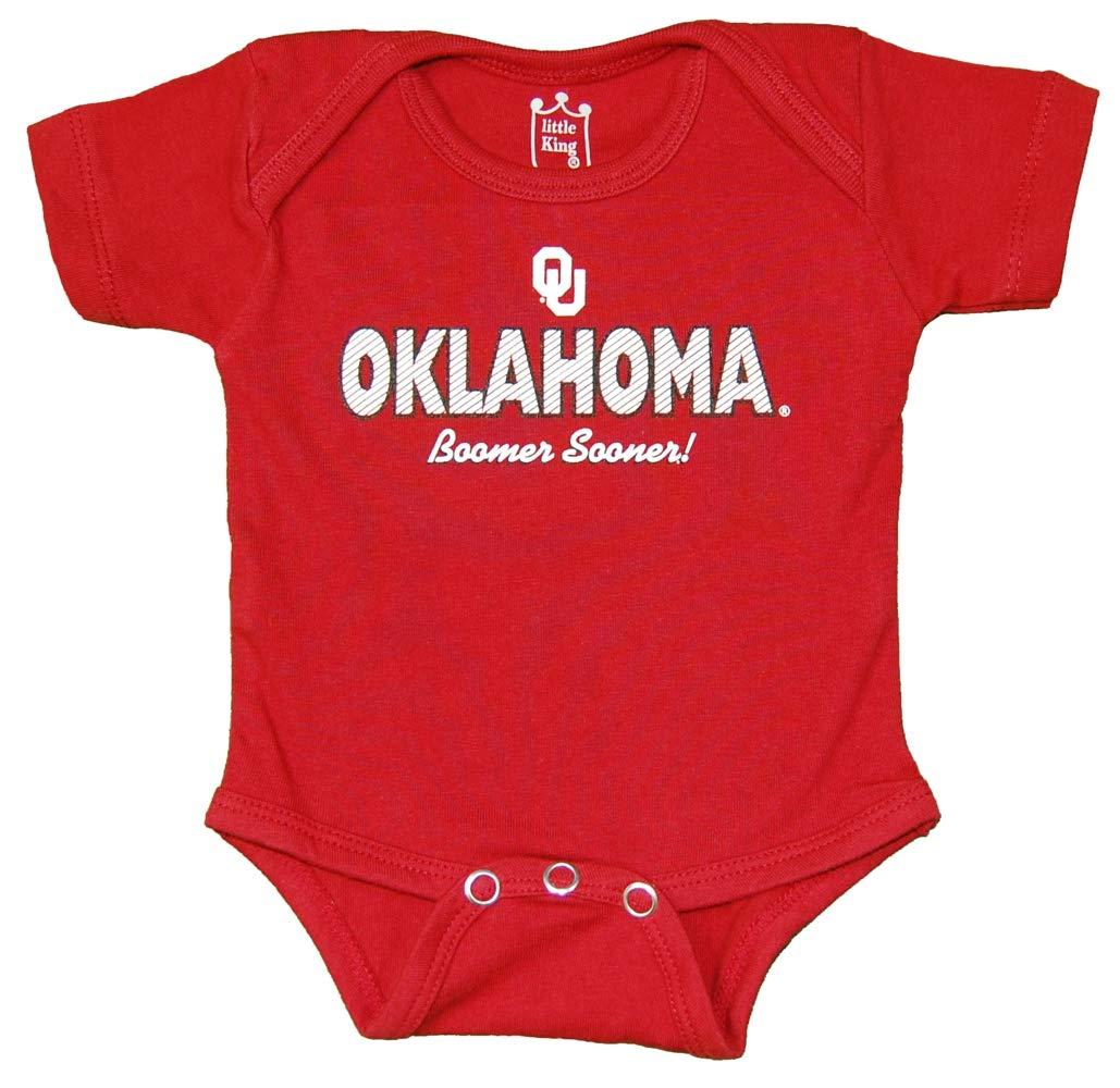 リトルキングNCAA半袖ボディスーツ-新生児と幼児サイズ  0-3 Months