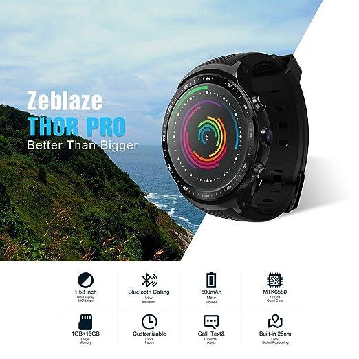 Zeblaze Thor PRO 3G reloj inteligente, pantalla táctil de 1 ...