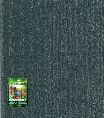 Cuprinol Ducksback 5 Year Waterproof for Sheds and Fences, 5 L - Silver Copse