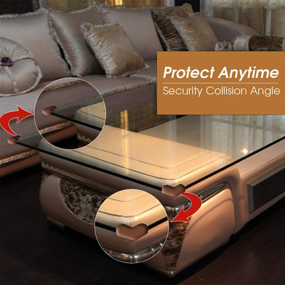 6 Meter 19 ft Safety Guard Roll Glass Furniture Safety Edge Proofing Soft Cushion Bumper Strips with Adhesive Tape 8 pcs Sharp Corner Protectors for Kids Coffee Table Desk Kurtzy Edge Guards