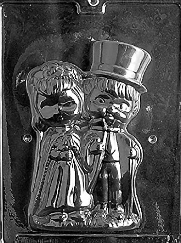 Bride And Groom Candy Molds - Grandmama's Goodies W041A & B 2 Pc. Bride & Groom Chocolate Candy Soap Mold with Exclusive Molding Instructions