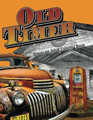 Oldtimer Grayscale Adult Coloring Book product image