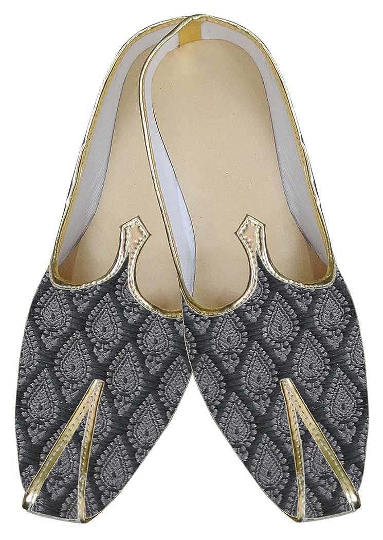 INMONARCH Hombres Zapatos Indio Clásico Gris MJ0053 40 EU