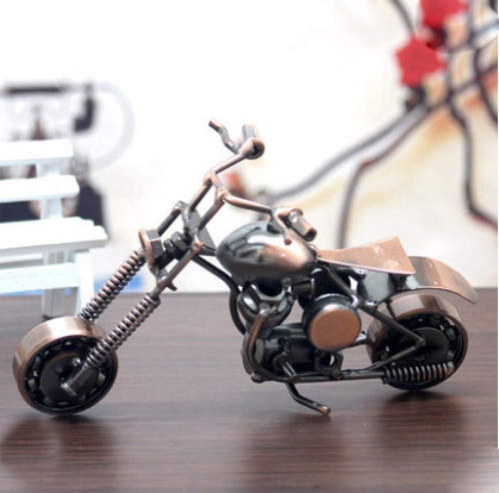 zzzddd Escultura De Escritorio,Vintage Moto Modelo Artesanal De Hierro Escultura De Arte Coleccionable De Figurillas para Motocicleta Amante Home Office Decoración