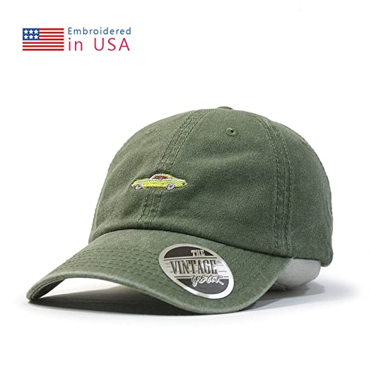 02c65537f3d Vintage Washed Cotton Adjustable Baseball Cap + FREE Sew Iron on Camper  Patch (70