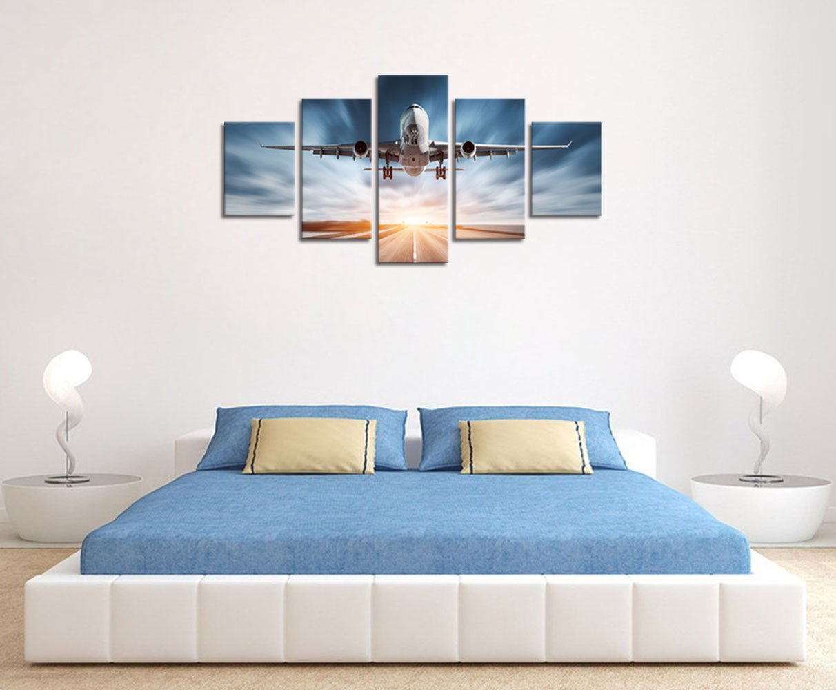Amazon.com: klvos-large moderno lona decoración de pared ...