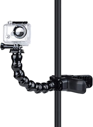 VARIPOWDER Jaws Flex Clamp Mount Gooseneck Mount for GoPro Hero 9/8/7/6/5/ Hero 2018/Fusion/Hero 5 Session/Hero 4/3+/3/2 DJI Osmo Xiaomi Yi AKASO Action Camera Accessories