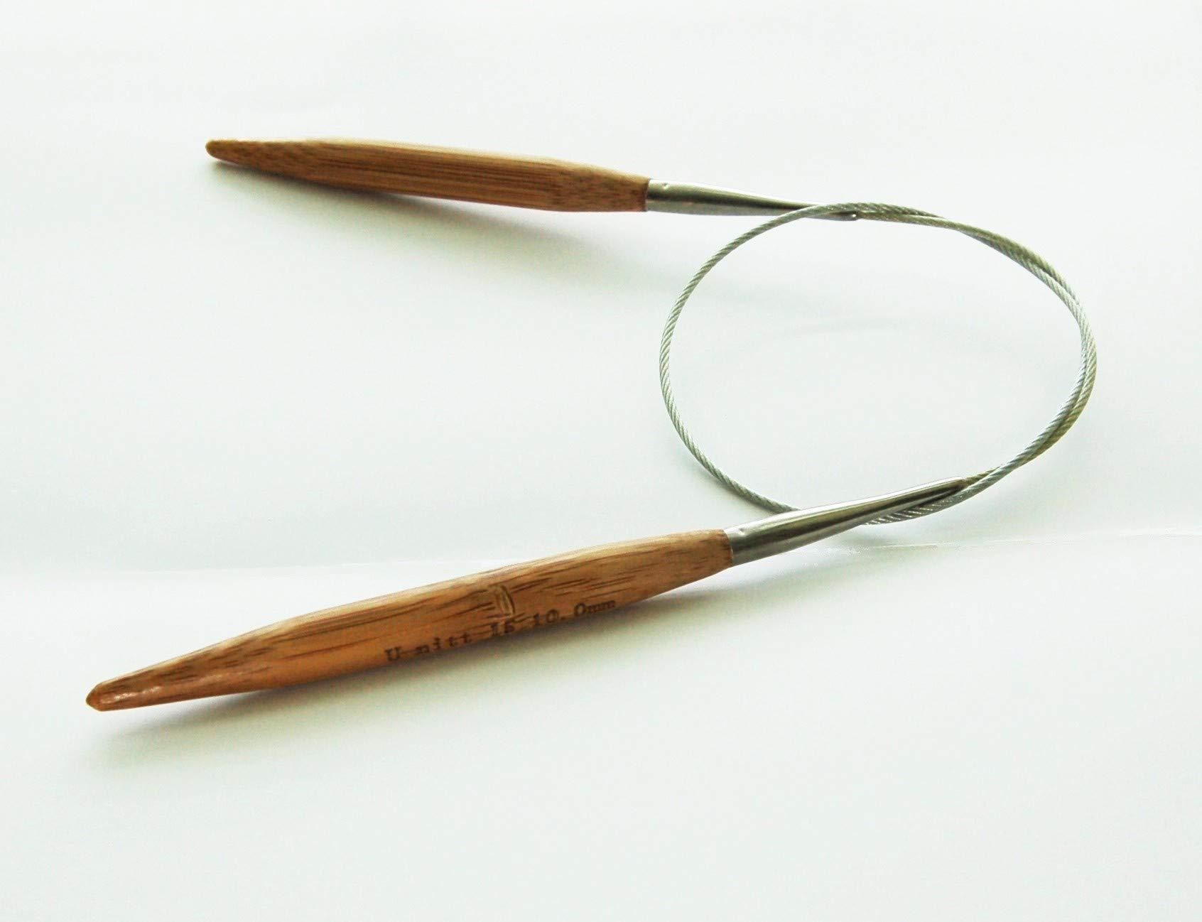 U-nitt Premium Bamboo Circular Knitting Needles 32'' inch sz 1-15