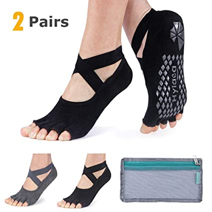 Amazon.com : Hylaea Yoga Socks for Women with Grip & Non ...
