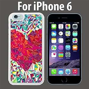 Color Paper Heart Custom Case/ Cover/Skin *NEW* Case for Apple iPhone 6 - White - Rubber Case (Ships from CA) Custom Protective Case , Design Case-ATT Verizon T-mobile Sprint ,Friendly Packaging - Slim Case