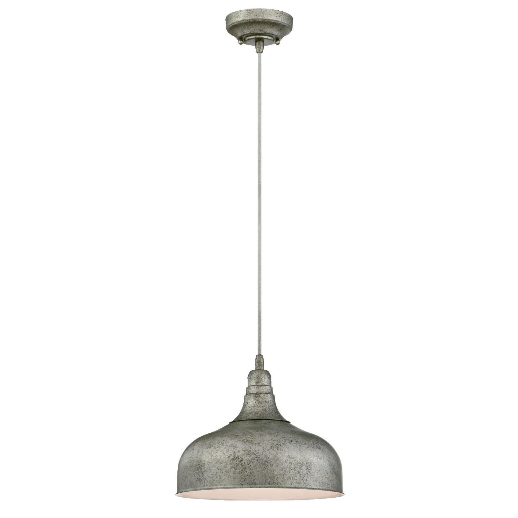 Westinghouse 6330100 One-Light Indoor Pendant, Antique Steel Finish with Metal Shade