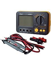 SODIAL VC60B+ Digital Insulation Resistance Tester Electronic Megger DC/AC 0.1~2000m ohm Megohm Meter LCD Voltmeter DVM 1000V