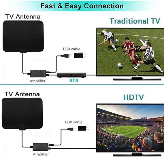 Antena De TV Profesional De Fibra De Carbono De 1180 Millas ...