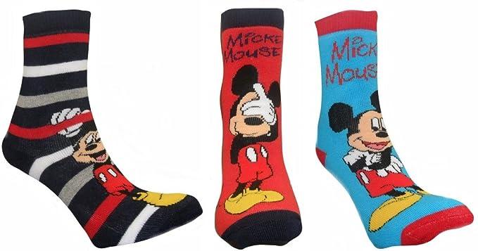 Disney Mickey Chicos ratón 6 Pack Skid Slipper No calcetines multicolor EUR 23-26
