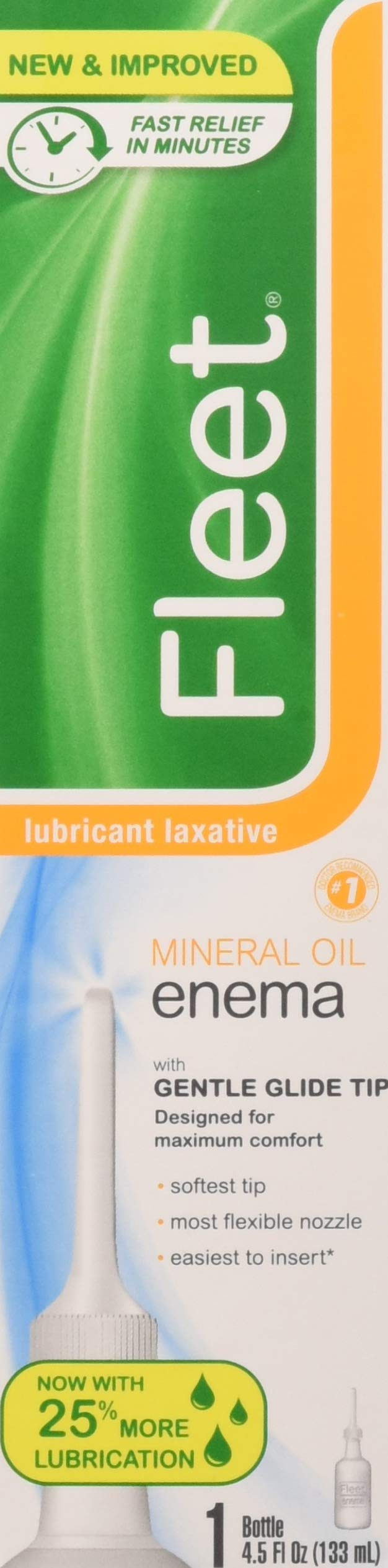 Fleet Lubricant Laxative Mineral Oil Enema | 4.5 oz | Pack of 12 | Fast Constipation Relief in Minutes by Fleet