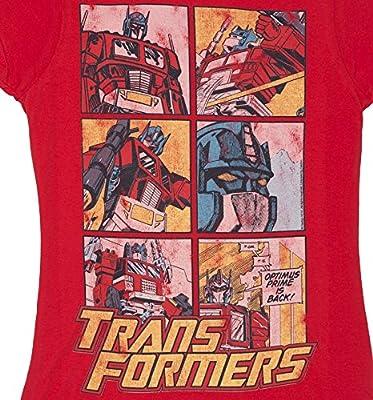 TruffleShuffle Womens Transformers Optimus Prime Comic Red T Shirt