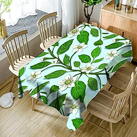 QWEASDZX Mantel Paño de algodón y Lino Mantel pequeño, Multiuso, Multiusos, a Prueba de Aceite, antiincrustante, Mantel Rectangular, Adecuado para Interiores y Exteriores, de 140 x 180 cm: Amazon.es: Hogar