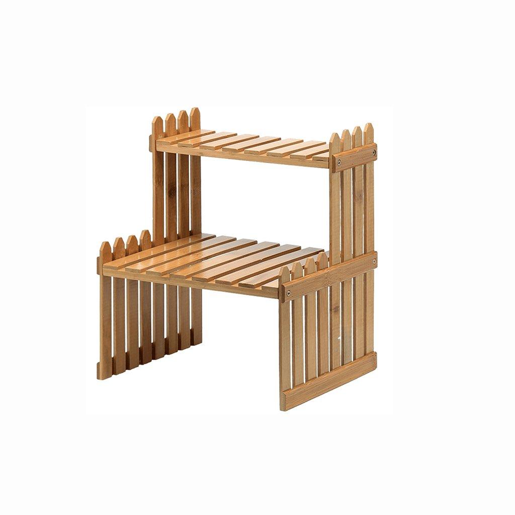 Garden Balcony Living Room Lightweight Wood With Trellis Wood Pot Shelf Flower Rack 20×26.5×30CM