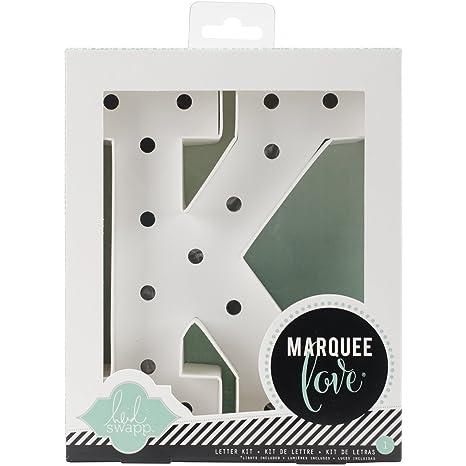 8.5 x 8.5 x 2.2 cm Heidi Swapp Marquee Love Buchstaben A Papier wei/ß