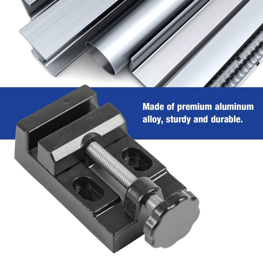 Mini /étau Plat en Acier pour Perceuse /à Perceuse en Alliage Daluminium Taillant Outils Pince de Table