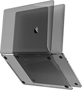 """UPPERCASE GhostShell MacBook Pro 15"""" Hard Case, Hardshell Case with Gray Shade Transparent Gloss Finish, Made with Premium PC Plastic for MacBook Pro 15 2016 2017 2018 2019, A1990 or A1707"""