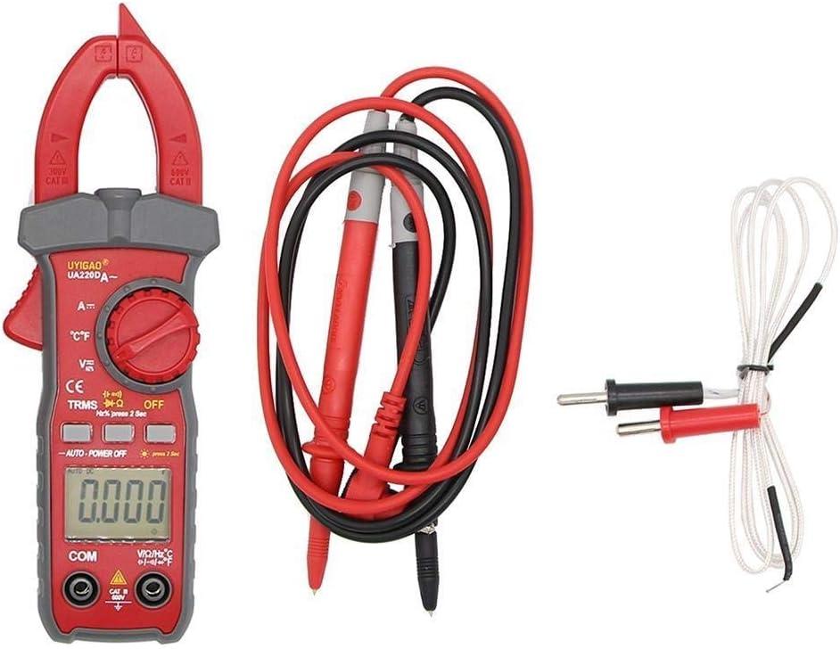 Multimeter UA220D Handheld Digital LCD Clamp Meter Multimeter DC//AC Voltage AC//DC Current Resistance Temperature Frequency Duty Tools