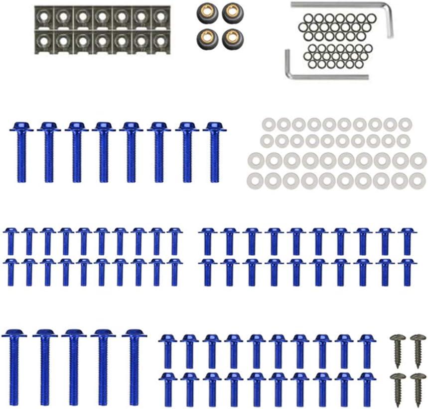 KKmoon Kit Bulloni Carenatura Blu Viti per Carrozzeria Set di Elementi di Fissaggio Misura per Honda CBR600RR CBR900RR CBR1000RR CBR1100XX