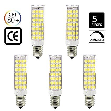 E12 Bombilla LED regulable, 6,5 W equivalente a 65 W-75 W