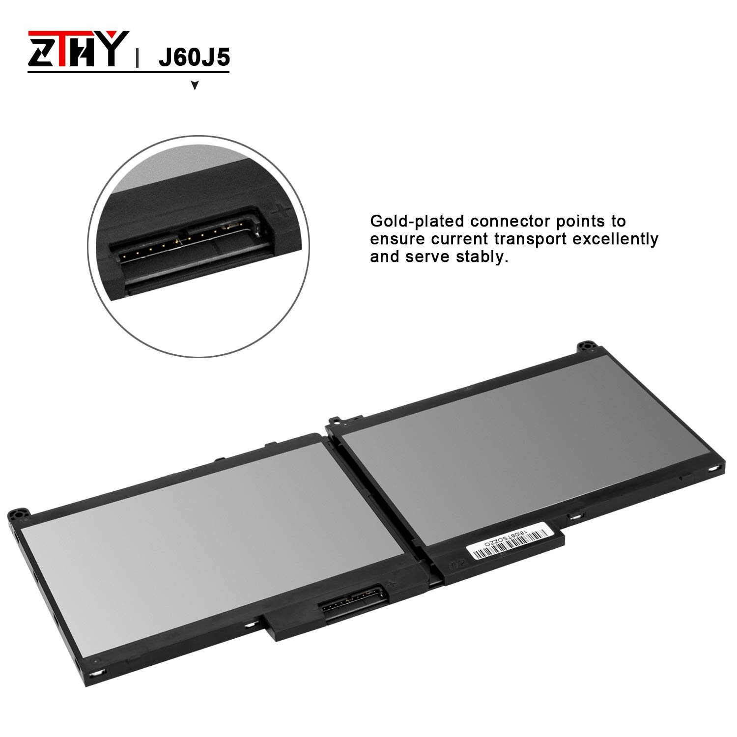 ZTHY J60J5 Laptop Battery Replacement for Dell Latitude E7270 E7470 Series Notebook R1V85 451-BBSX 451-BBSY 451-BBSU MC34Y 242WD PDNM2 7.6V 55WH by ZTHY (Image #5)